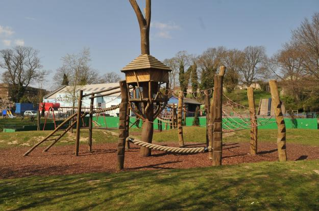 Play equipment in Saunders Park